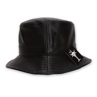 TopHeadwear Faux Leather Bucket Hat
