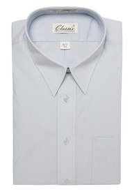 Classic Mens Dress Shirt Long-Sleeve Button Shirt (With Neck Sizes)