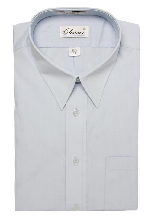 Classic Mens Dress Shirt Long-Sleeve Button Shirt (With Neck Sizes)