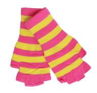 Cut-Off Fingerless Striped Gloves