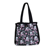 CANVAS TOTE BAG SKULL HEART STAR
