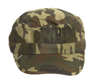 Clover Camo Newsboy Hat - Military Green