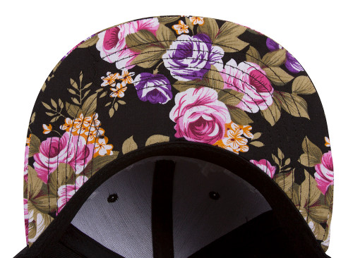 GT Compton Olde English Flowers Flat Bill Adjustable Snap