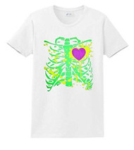 Heart Skipped A Beat Fitted White T-Shirt