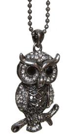 Vintage Owl Pendant Necklace