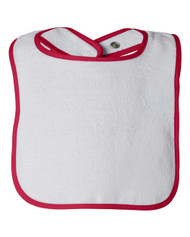 Rabbit Skins 1003 Infant Snap Bib w/ Contrast Color Binding