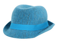 Womens Fuzzy Fedora w/ Band