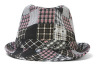 Womens Plaid Fedora w/ Band