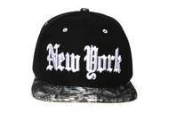City Black/Snakeskin Olde English Adjustable Baseball Cap