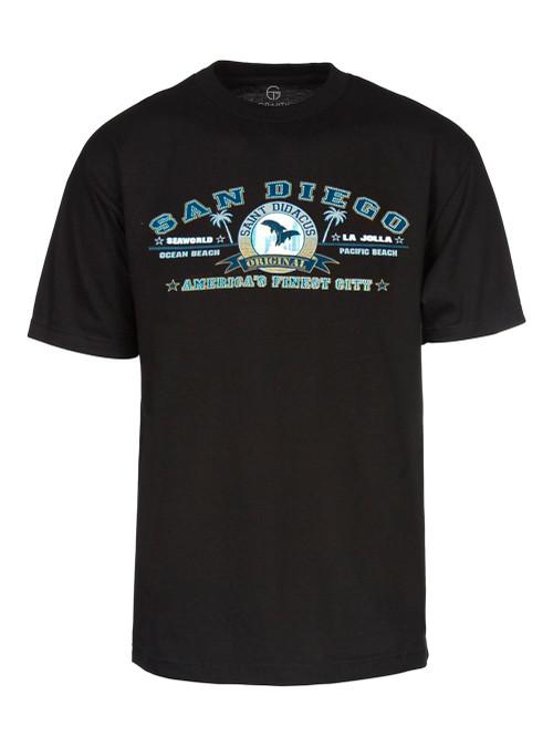 San Diego America's Finest City Cotton T-Shirt - Black, L