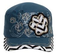 TopHeadwear Distressed Cadet Cap (Various Styles)
