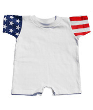 Code V Infant Jersey Stars & Stripes Romper
