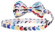 Clover Graphic Rainbow Design Bow Tie