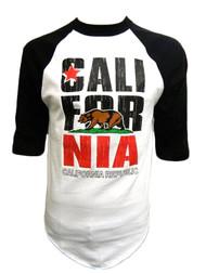 California Republic Bear Logo Half-Sleeve Baseball Shirt