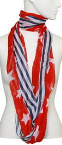 Womens Fashion USA Flag Soft Scarf
