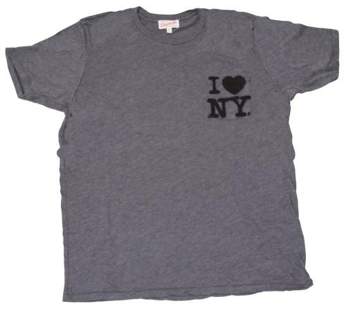 "Junk Food ""I Love New York"" Men's Charcoal Wash T-Shirt"