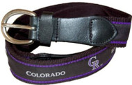 The Mark Adult Canvas Material MLB Colorado Rockies Belt w/Buckle Closure