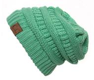 Sage Thick Knit Soft Stretch Beanie Cap