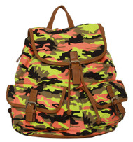 "Fashion Outdoors ""Celeste ce Sair"" Camo Rucksack/Backpack"