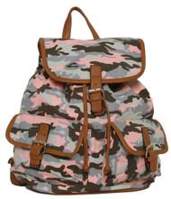 "Fashion Outdoors ""Celeste ce Sair"" Camo Rucksack/Backpack"