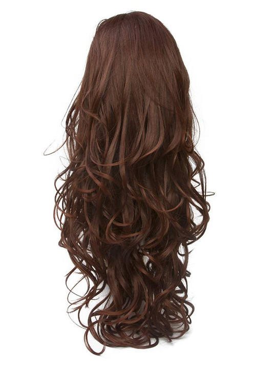Elegante Womens Holiday Lace Front Red Wig