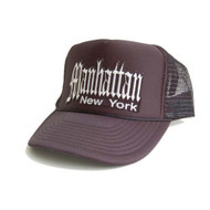 New Manhatten New York Adjustable Hat- Black