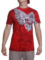 Konflic Mens Winged Feathered Crest MMA T-Shirt