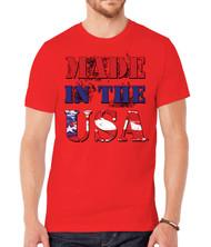 Mens Made in USA Short-Sleeve T-Shirt - Red - Medium