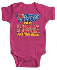 """Baby """"Grandma & Grandpa"""" Bodysuit (Various Colors)"""
