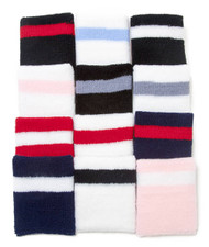 12 Piece Striped Wristbands
