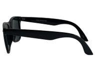 Black Classic Vagabond Style Sunglasses (Includes Soft Case)