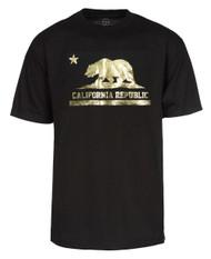 Gravity Trading Short-Sleeve Gold Men's California Republic T-Shirt