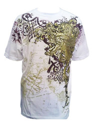 Konflic Golden Lion  World Atlas Fashion MMA Muscle  T-shirt