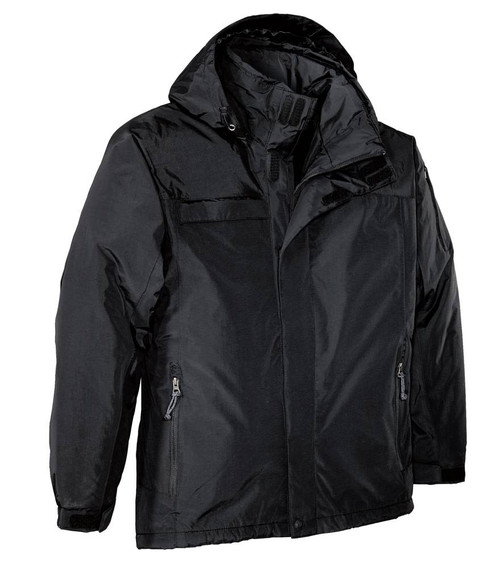 Big Mens Waterproof Nootka Jacket by Port Authority,  Black 4XLT