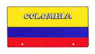 National Plastic License Plate Cover Holder, Colombia