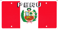 National Plastic License Plate Cover Holder, Peru