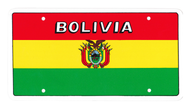 National Plastic License Plate Cover Holder, Bolivia