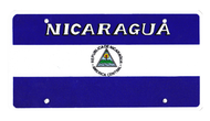 National Plastic License Plate Cover Holder, Nicaragua