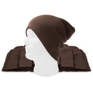 12 Lot (One Color) Long Beanies Wholesale- Brown