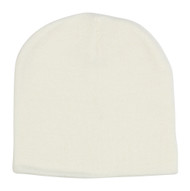 12 (SHORT) Beanies Wholesale- White