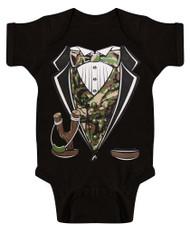Toddlers Camo Tuxedo Bodysuit
