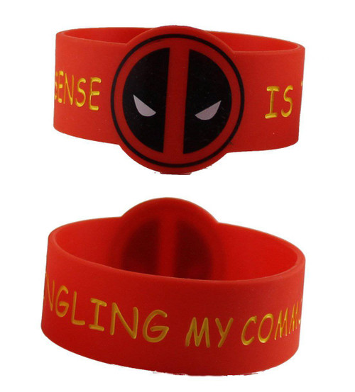 Licenses Products Marvel Extreme Deadpool Common Sense Rubber Wristband Novelty