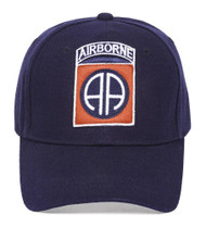 Airborne Logo Navy Hook & Loop Adjustable Cap