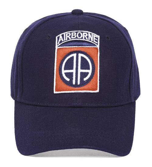 Airborne Logo Navy Hook & Loop Adjustable Cap