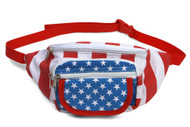 GT Collection USA Stars and Stripes Adjustable Fanny Pack