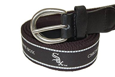 Mark Adult Canvas MLB Chicago Whitesox Belt w/Buckle Closure