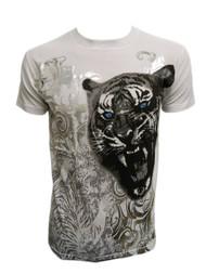 Konflic Men's Graphic Design Fierce Tiger MMA T-Shirt