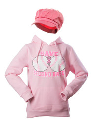 Breast Cancer Awareness Kit - Save Second Base Hoodie + Newsboy Cap