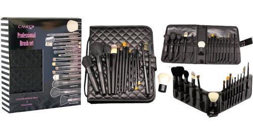 15pc Professional Makeup Brush Set Cameo Cosmetics Makeup Brushes and Tools Set