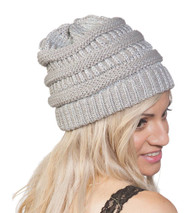 Thick Soft Knit Oversized Beanie Cap Hat